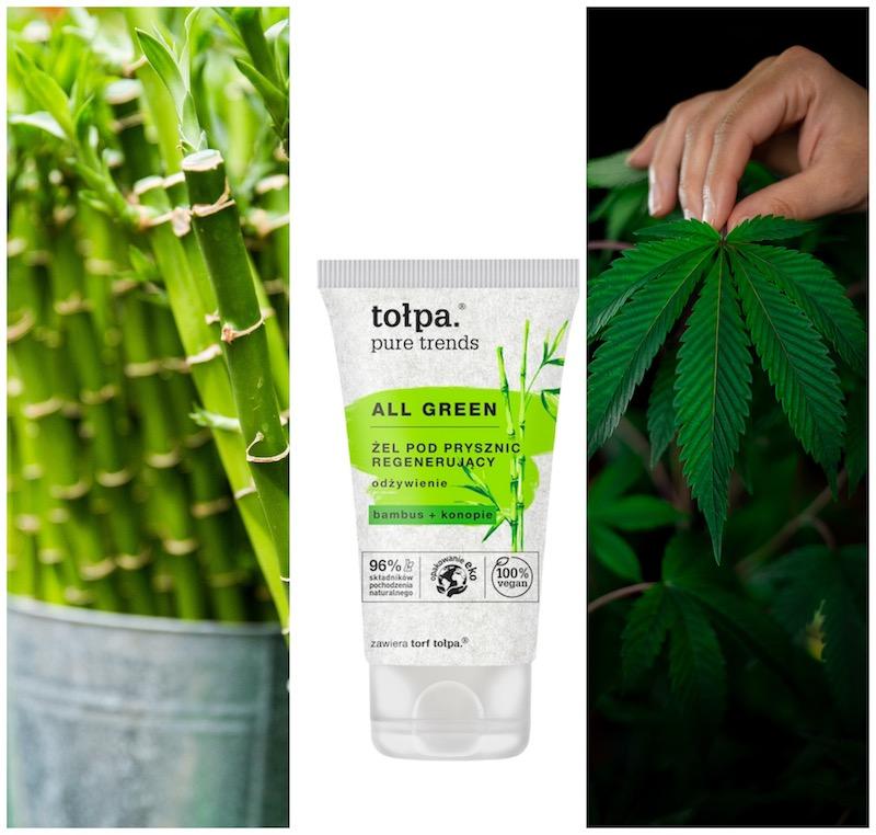 Nowe naturalne składniki kosmetyków Tołpa-bambus i konopie CBD