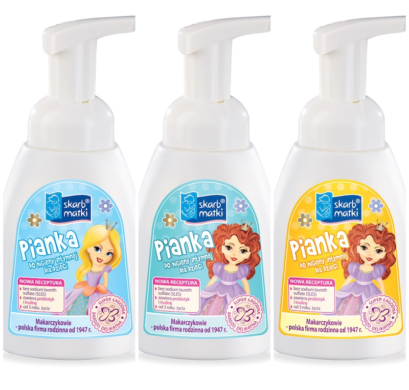 Nowe pianki do higieny intymnej dla dzieci